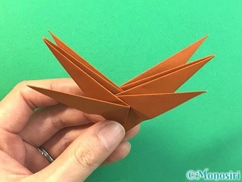 折り紙で立体的なクワガタの折り方手順65