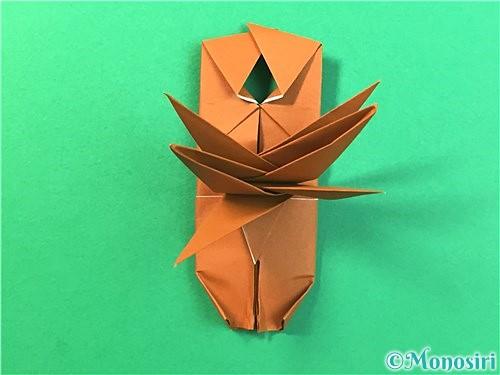 折り紙で立体的なクワガタの折り方手順70