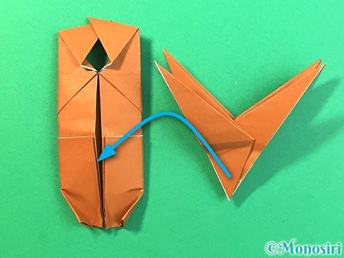 折り紙で立体的なクワガタの折り方手順67