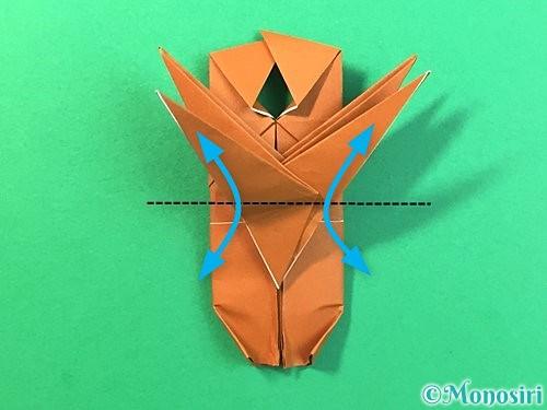 折り紙で立体的なクワガタの折り方手順69