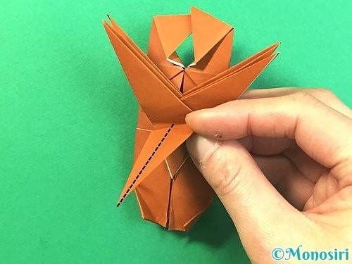 折り紙で立体的なクワガタの折り方手順71