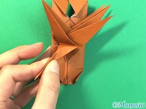 折り紙で立体的なクワガタの折り方手順72