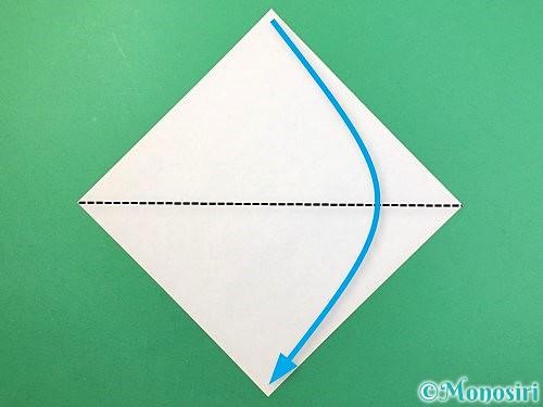 折り紙でバッタの折り方手順1