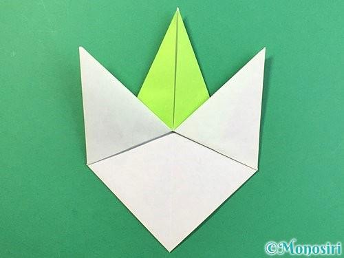 折り紙でバッタの折り方手順21
