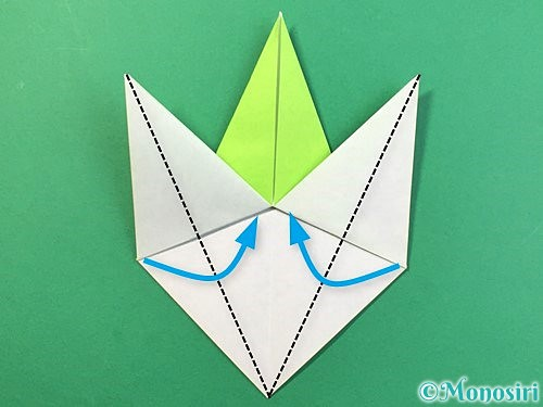 折り紙でバッタの折り方手順22