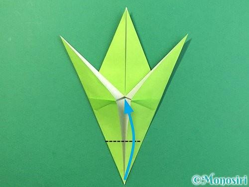 折り紙でバッタの折り方手順24