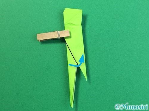 折り紙でバッタの折り方手順32