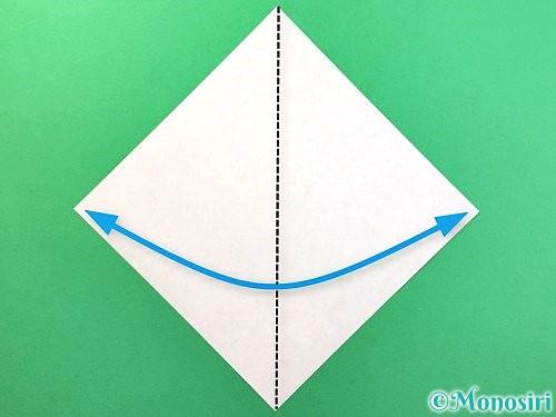 折り紙でソフトクリームの折り方手順1