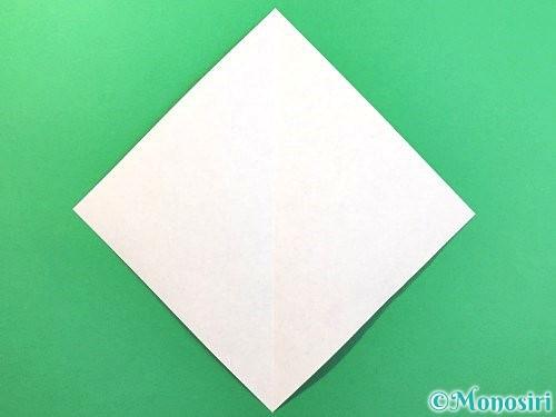 折り紙でソフトクリームの折り方手順2