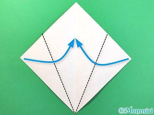 折り紙でソフトクリームの折り方手順3