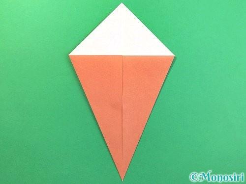 折り紙でソフトクリームの折り方手順4