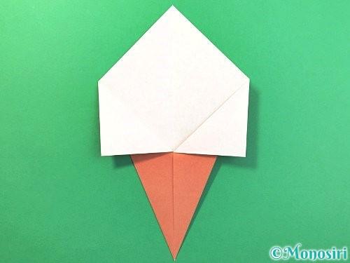 折り紙でソフトクリームの折り方手順6
