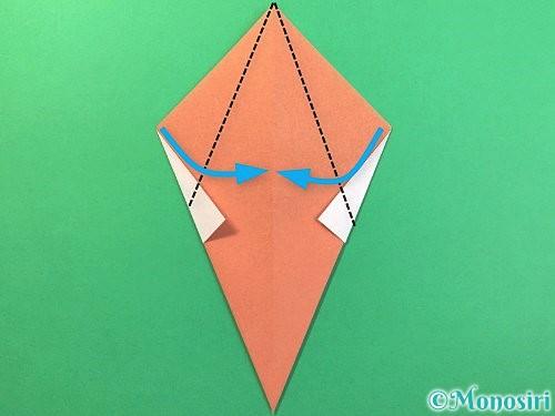 折り紙でソフトクリームの折り方手順10