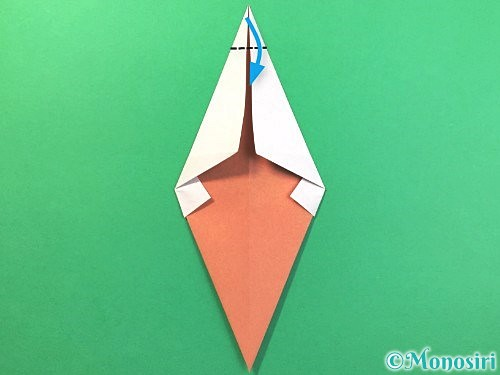 折り紙でソフトクリームの折り方手順12