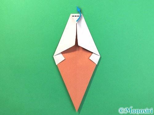 折り紙でソフトクリームの折り方手順14