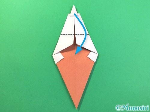 折り紙でソフトクリームの折り方手順16