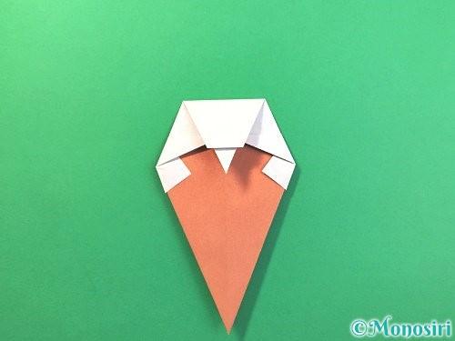 折り紙でソフトクリームの折り方手順17