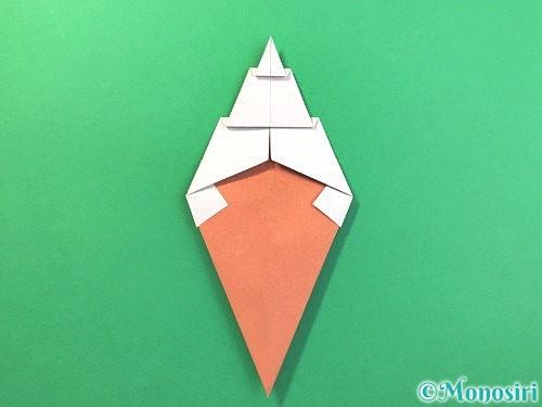 折り紙でソフトクリームの折り方手順19