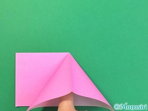 折り紙で立体的なバラの折り方手順6