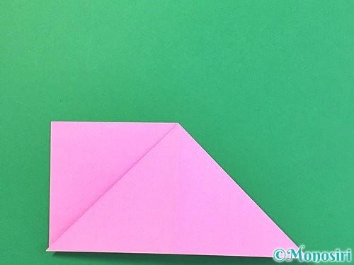 折り紙で立体的なバラの折り方手順7