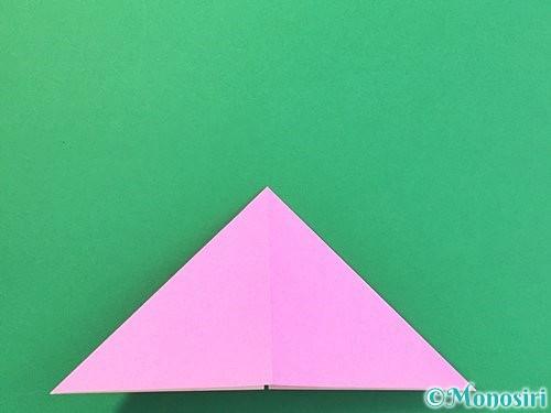 折り紙で立体的なバラの折り方手順8