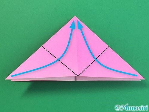 折り紙で立体的なバラの折り方手順9