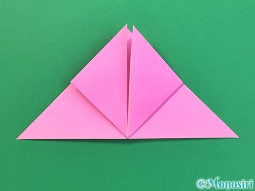 折り紙で立体的なバラの折り方手順10