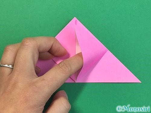 折り紙で立体的なバラの折り方手順11