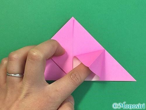 折り紙で立体的なバラの折り方手順12