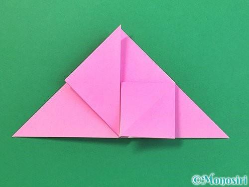 折り紙で立体的なバラの折り方手順13
