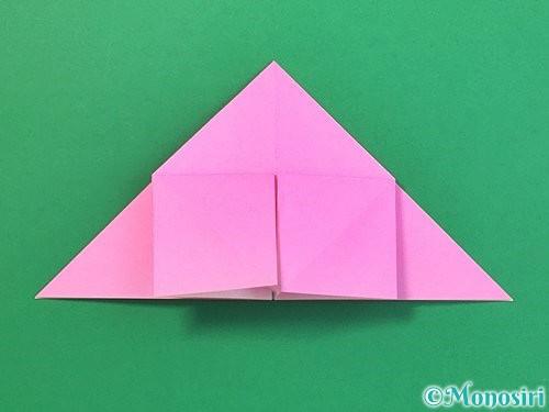 折り紙で立体的なバラの折り方手順14