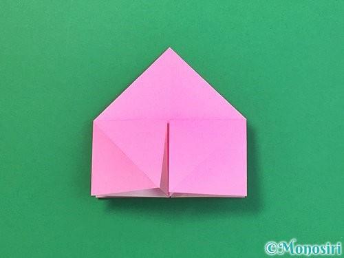 折り紙で立体的なバラの折り方手順15