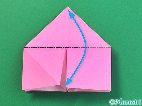 折り紙で立体的なバラの折り方手順16