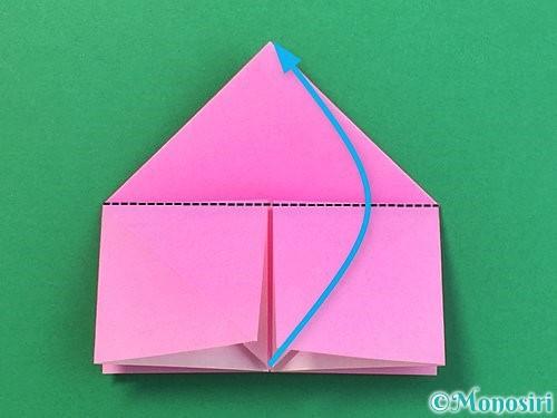 折り紙で立体的なバラの折り方手順18