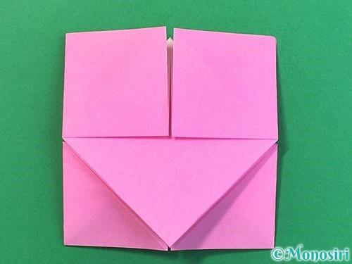 折り紙で立体的なバラの折り方手順25