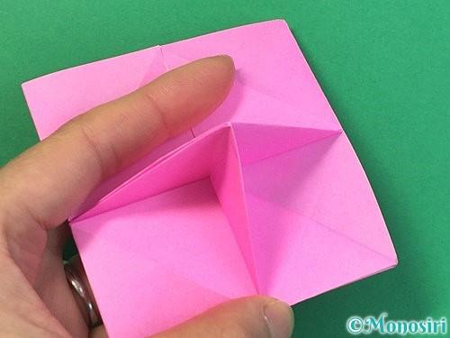 折り紙で立体的なバラの折り方手順31