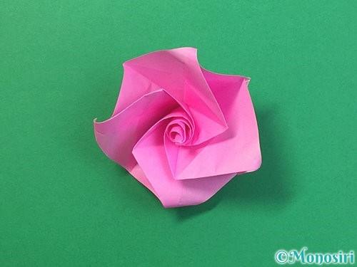 折り紙で立体的なバラの折り方手順41