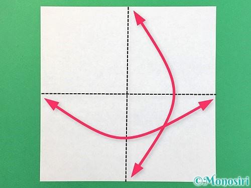折り紙で睡蓮(蓮の花)の折り方手順1