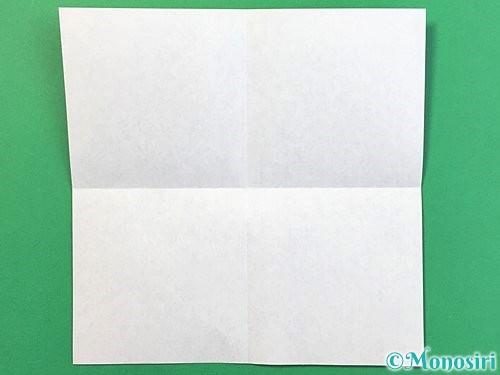 折り紙で睡蓮(蓮の花)の折り方手順2