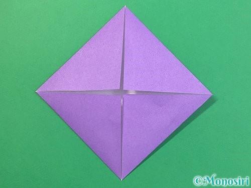 折り紙で睡蓮(蓮の花)の折り方手順4