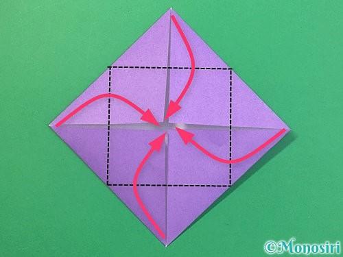 折り紙で睡蓮(蓮の花)の折り方手順5