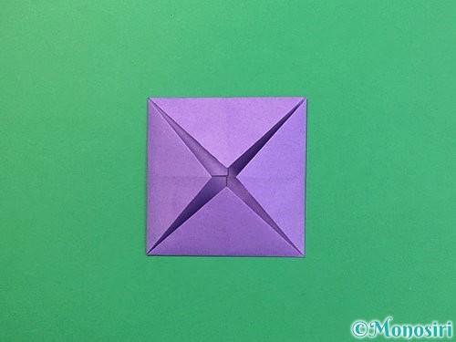 折り紙で睡蓮(蓮の花)の折り方手順6
