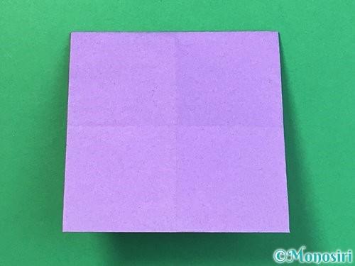 折り紙で睡蓮(蓮の花)の折り方手順7
