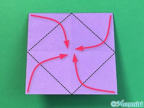 折り紙で睡蓮(蓮の花)の折り方手順8
