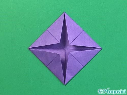 折り紙で睡蓮(蓮の花)の折り方手順9