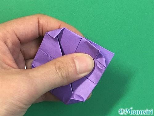 折り紙で睡蓮(蓮の花)の折り方手順16