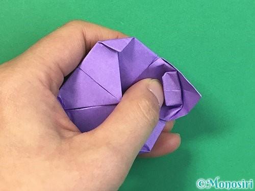 折り紙で睡蓮(蓮の花)の折り方手順17