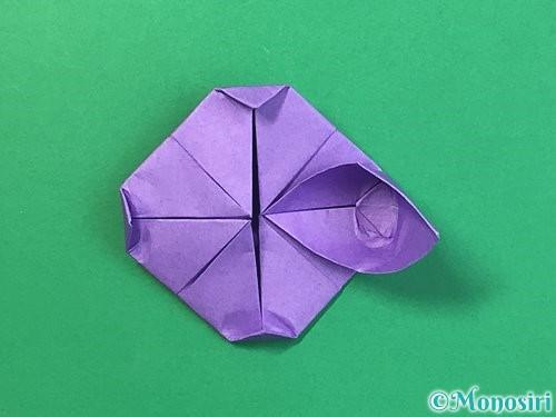 折り紙で睡蓮(蓮の花)の折り方手順19