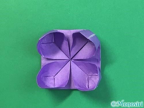折り紙で睡蓮(蓮の花)の折り方手順22