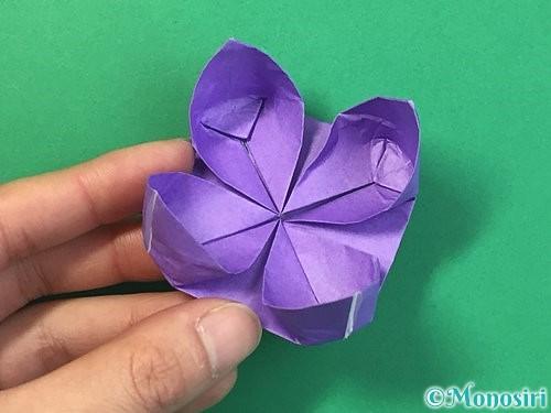 折り紙で睡蓮(蓮の花)の折り方手順23